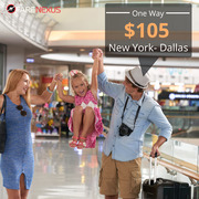 One way cheap Air Tickets New York- Dallas One Way from CAD $105